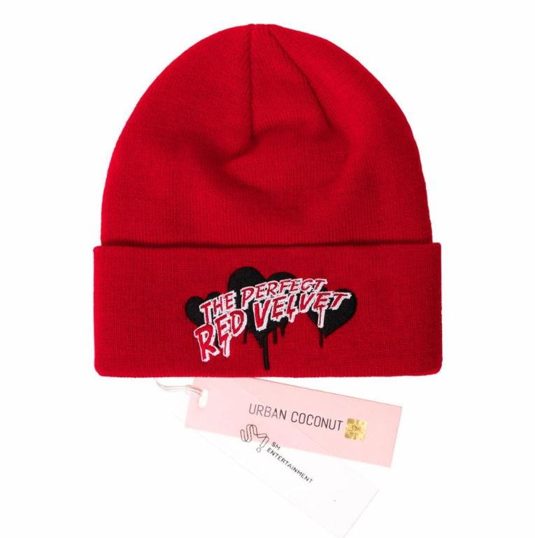 Red Velvet SM Official Beanie with The Perfect Red Velvet Typography