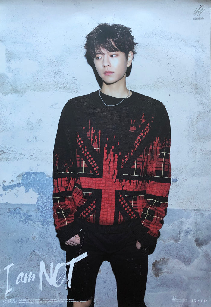 STRAY KIDS 1ST MINI ALBUM [I AM NOT] LIMITED EDITION MEMBER POSTER - SEUNGMIN