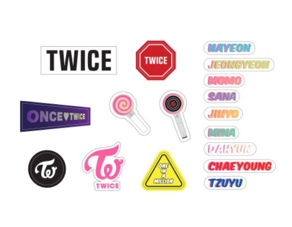 [Pre-Order] Twice [TWICELIGHTS] Official MD - Candy Bong Z Pouch Deco Stickers