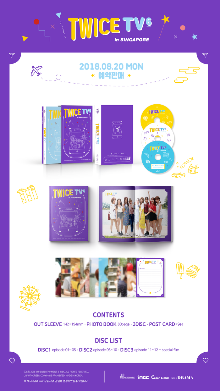 [Pre-Order] 트와이스 DVD TWICE TV6 -TWICE IN SINGAPORE