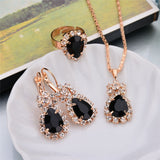 Fashion Water Drop Jewelry Sets