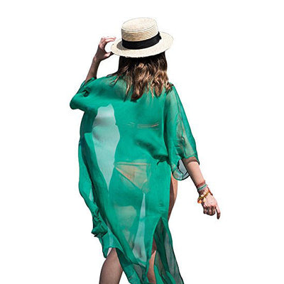 Womens Chiffon Coverups Swimwear