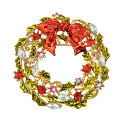 Christmas Wreath Brooch Brooch Popular Jewelry