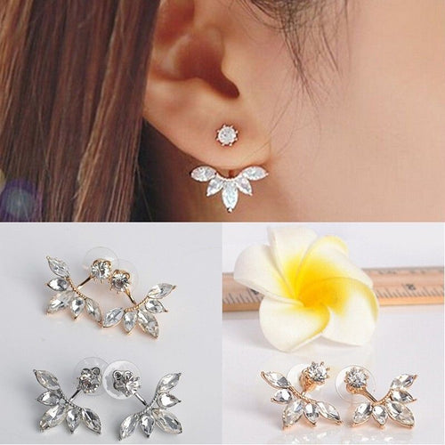 1 Pair Women Fashion Jewelry Lady Elegant Crystal Rhinestone Ear Stud Earrings