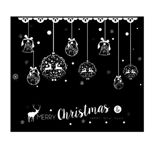 Christmas Themed Sticker Cartoon Wall Decals Wall Decor Removable Stickers for Shopwindow Showcase Glass Living Room Bedroom Door