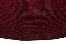 Burgundy Chenille Reversible Braided Rug Edge Detail