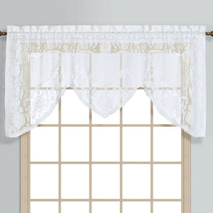 "Windsor Swagger Topper, 72' x 36"" White"