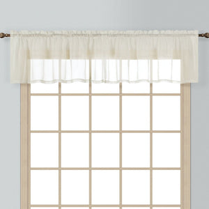 "Batiste Straight Valance, 54"" x 16"" Natural"