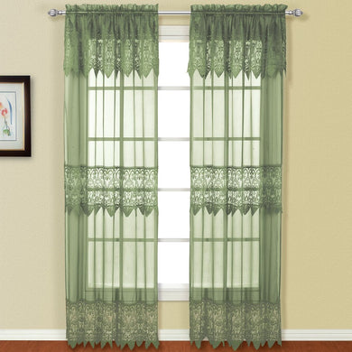 Valerie Window Panel Pair Sage