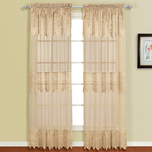 Valerie Window Panel Pair Taupe