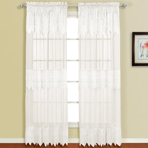 Valerie Window Panel Pair White