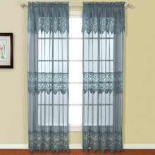 Valerie Window Panel Pair Blue