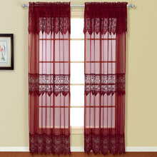 Valerie Window Panel Pair Burgundy