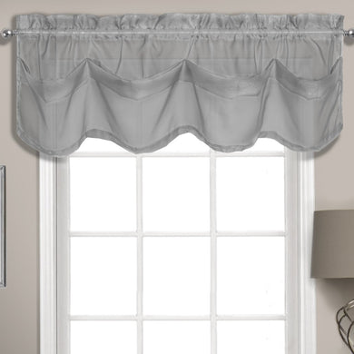 Summit Sheer Voile Tuck Valance, 56