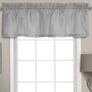 "Summit Sheer Voile Straight Valance, 56"" x 14"" Silver"