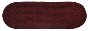 Burgundy Chenille Reversible Braided Rug Runner