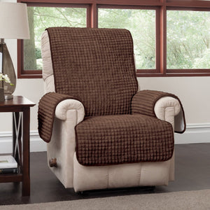 Puff Recliner & Wing Chair Protector Chocolate