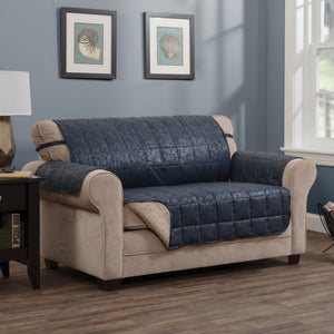Brentwood Loveseat Protector Navy