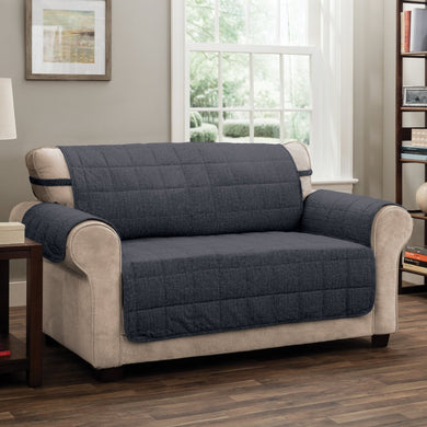 Tyler Sofa Protector Charcoal in Use