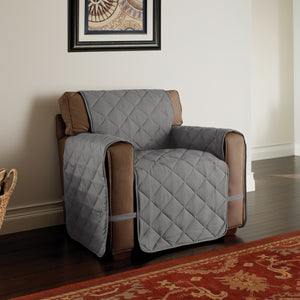 Microfiber Solid Ultimate Chair Protector Grey