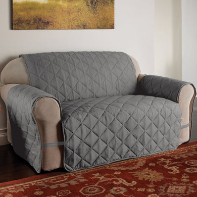 Microfiber Solid Ultimate Sofa Protector Grey