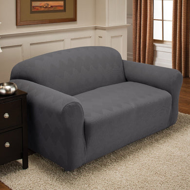 Optic Loveseat Stretch Slipcover Grey
