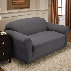 Optic Sofa Stretch Slipcover Grey