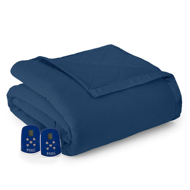 Micro Flannel® Smokey Mountain Blue Electric Blanket