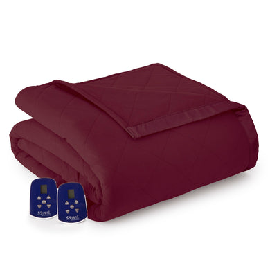 Micro Flannel® Wine Electric Blanket