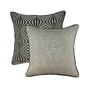 Avalon Collection 18 x 18 Throw Pillow - Platinum