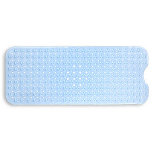 Extra Long Deluxe Tub Mat Light Blue