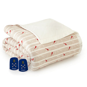 Micro Flannel® Cardinals Electric Blanket