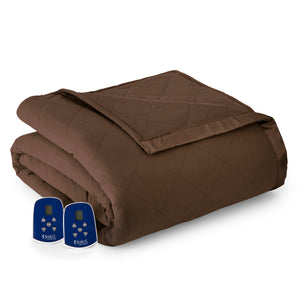 Micro Flannel® Chocolate Electric Blanket