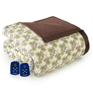 Micro Flannel® Pinecone Electric Blanket
