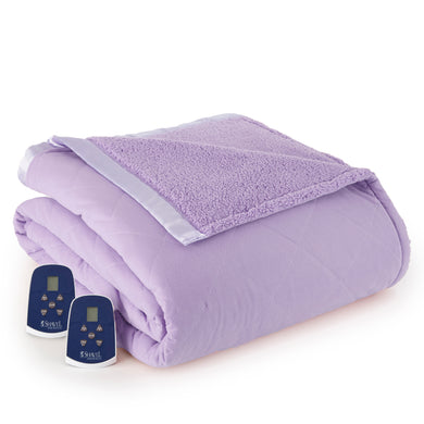 Micro Flannel® Reverse to Sherpa Amethyst Electric Blanket