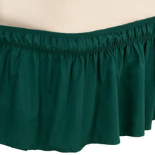 Solid Wrap Around Elastic Bed Skirt Green