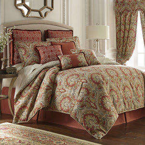 Harrogate Collection 4 Piece Comforter Set - Multi