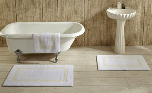 Hotel Collection Reversible Bath Rug White Ivory