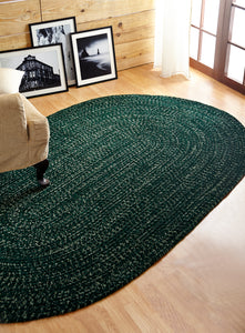 Emerald Duluth Tweed Chenille Reversible Braided Rug
