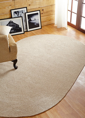 Ivory Dove Chenille Reversible Braided Rug