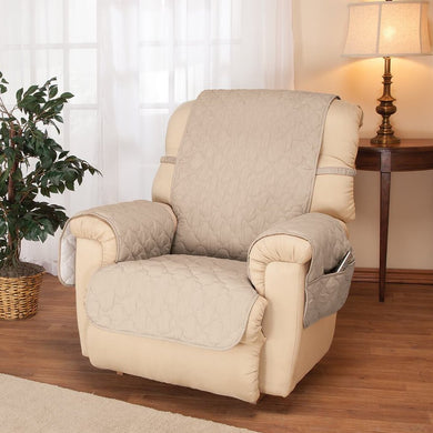 Deluxe Collection Microfiber Recliner Cover Ivory