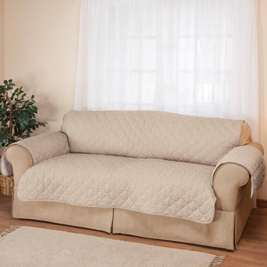 Deluxe Collection Microfiber Sofa Cover Ivory