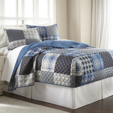 Micro Flannel® Smokey Mt Plaid Fitted Quilt Mini Set