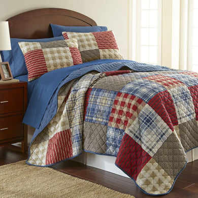 Micro Flannel® Berry Patch Plaid Quilt Mini Set