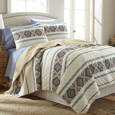 Micro Flannel® Lodge Stripe Quilt Mini Set