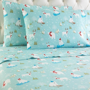 Micro Flannel® Fun in the Snow Sheet Set