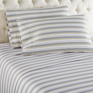 Micro Flannel® Metro Stripe Sheet Set
