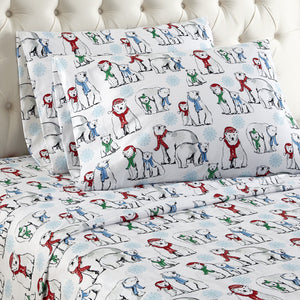 Micro Flannel® Polar Bears Sheet Set