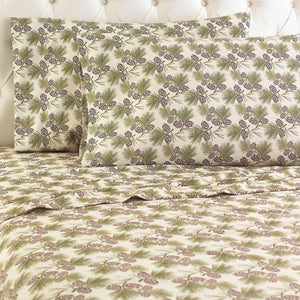 Micro Flannel® Pinecones Sheet Set