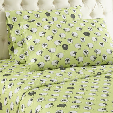 Micro Flannel® Sheep Green Sheet Set